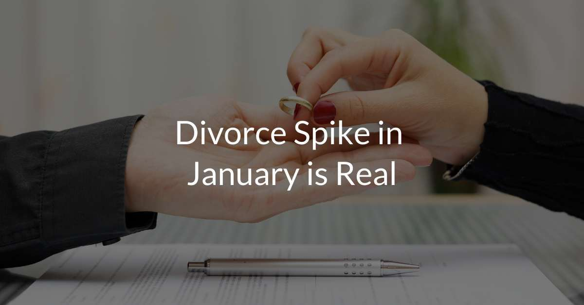 Divorce Spike in January is Real