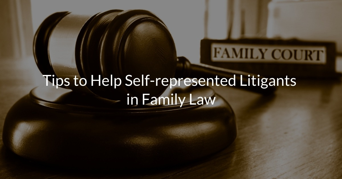 Tips to Help Self-represented Litigants in Family Law
